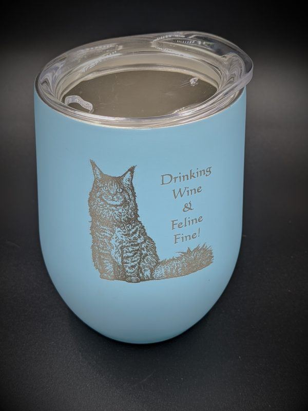 Kitty Cat Wine Glass